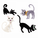 Trimits Craft For Occasions Stick On Animals Embellishments Scrap Booking Cat Pack Of 4