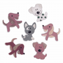 Trimits Craft For Occasions Stick On Animals Embellishments Scrap Booking Dogs Assorted Pack Of 6