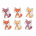 Trimits Craft For Occasions Stick On Animals Embellishments Scrap Booking Foxes Pack Of 6