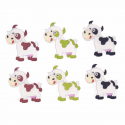 Trimits Craft For Occasions Stick On Animals Embellishments Scrap Booking Cows Pack Of 6
