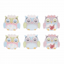 Trimits Craft For Occasions Stick On Animals Embellishments Scrap Booking Sleeping Owls Pack Of 6