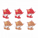 Trimits Craft For Occasions Stick On Animals Embellishments Scrap Booking Spotty Foxes Pack Of 6