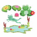 Trimits Craft For Occasions Stick On Animals Embellishments Scrap Booking Felt Frogs Pack Of 6
