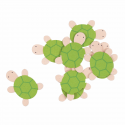 Trimits Craft For Occasions Stick On Animals Embellishments Scrap Booking Tortoise Pack Of 8