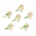 Trimits Craft For Occasions Stick On Animals Embellishments Scrap Booking Green Birds Pack Of 6