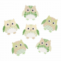 Trimits Craft For Occasions Stick On Animals Embellishments Scrap Booking Green Owls Pack Of 6