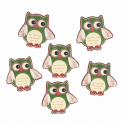 Trimits Craft For Occasions Stick On Animals Embellishments Scrap Booking Owls Pack Of 6
