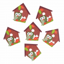 Trimits Craft For Occasions Stick On Animals Embellishments Scrap Booking Owl Houses Pack Of 6