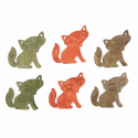 Trimits Craft For Occasions Stick On Animals Embellishments Scrap Booking Wooden Foxes Pack Of 6