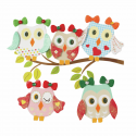 Trimits Craft For Occasions Stick On Animals Embellishments Scrap Booking Tweet Birds 8cm Multi Pack Of 6
