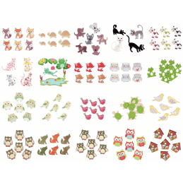 Trimits Stick On Adhesive Animals Embellishments Scrapbooking Card Making