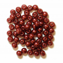 Bronze 4mm Pearl Plastic Beads 7g Craft Factory