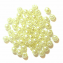 Cream 4mm Pearl Plastic Beads 7g Craft Factory