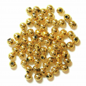 Gold 4mm Pearl Plastic Beads 7g Craft Factory