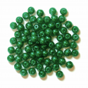 Green 4mm Pearl Plastic Beads 7g Craft Factory