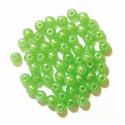 Lime Green 4mm Pearl Plastic Beads 7g Craft Factory