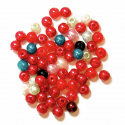 Multi 4mm Pearl Plastic Beads 7g Craft Factory
