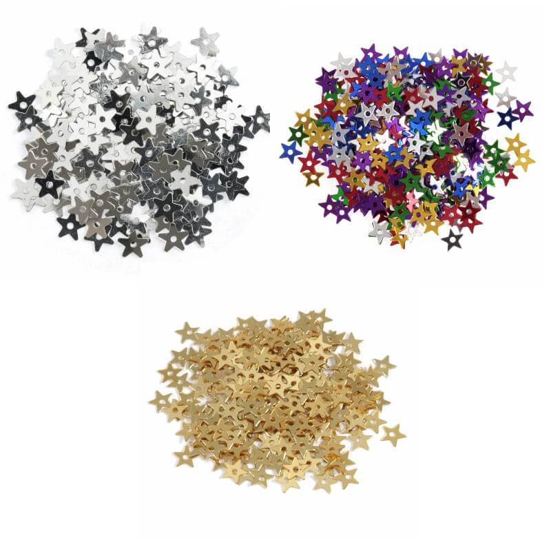 Silver Tiny Stars 5mm Shiny Sequins