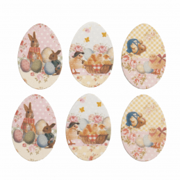 Trimits Craft For Occasions Stick On Easter Embellishments Scrap Booking Easter Eggs Pack Of 6
