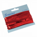 Trimits Craft For Occasions Flat Sequin Trim 5m x 6mm Embellishments Trimmings Red
