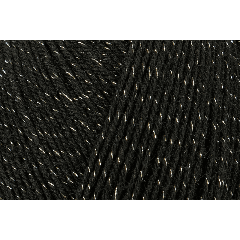 Black Regia Soft Glitter 4 PLY Knitting Yarn Knit Wool Craft 100g Ball