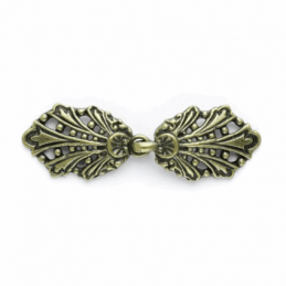 Vogue Star 58mm Antique Gold Peacock Clasp Buckle Fastener Clothing Accessories