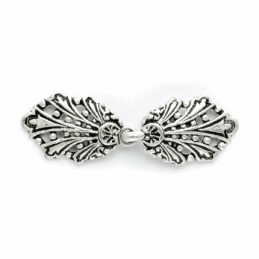 Vogue Star 58mm Silver Peacock Clasp Buckle Fastener Clothing Accessories