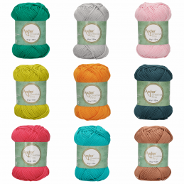 Anchor 100% Cotton Style Creativa 8 PLY Crochet Yarn Wool Craft 50g Ball