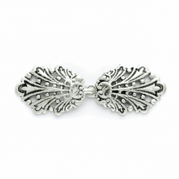 80mm Silver Peacock Clasp Buckle Fastener Vogue Star