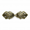 80mm Antique Gold Peacock Clasp Buckle Fastener Vogue Star