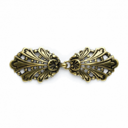 Vogue Star 80mm Antique Gold Peacock Clasp Buckle Fastener Clothing Accessories