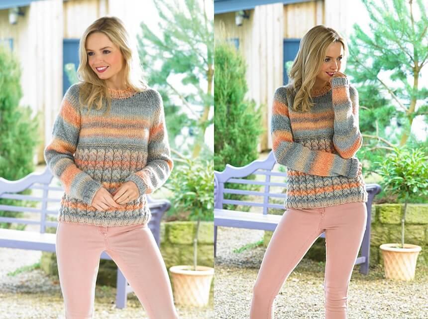 Knitting Pattern James C Brett JB435 Chunky Jumper