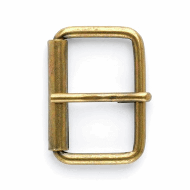 35mm Brass Heel Bar Roller Buckle Vogue Star