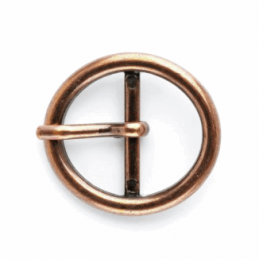 25mm Copper Oval Centre Bar Buckle Vogue Star