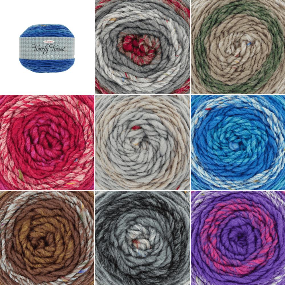 Marshmallow King Cole Twirly Tweed Chunky Yarns Knitting Yarn Craft Wool Crochet 150g Ball