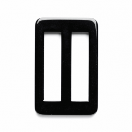 Vogue Star 40mm Rectangle Rounded Corners Plain Slide Replacement Buckle