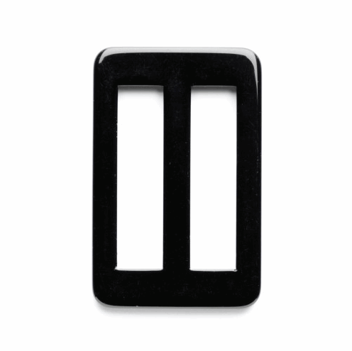 50mm Rectangle Rounded Corners Plain Slide Buckle Vogue Star