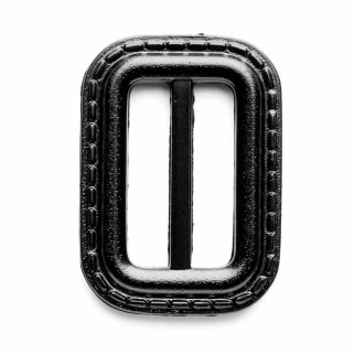 Vogue Star 25mm Rectangle Leather Look Stitch Effect Slide Replacement Buckle Navy