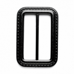 Vogue Star 50mm Rectangle Leather Look Stitch Effect Slide Replacement Buckle