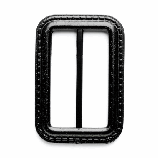 Vogue Star 50mm Rectangle Leather Look Stitch Effect Slide Replacement Buckle Navy