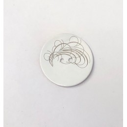 34mm Swirls on White Sea Shell Round Button Italian Design