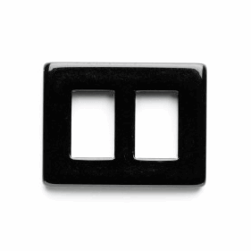 Vogue Star 10mm Mini Rectangular Black Slide Replacement Buckle Accessories