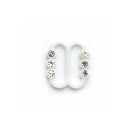 Vogue Star 10mm Pair of Mini Diamante Slider Replacement Buckles Accessories