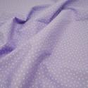 100% Cotton Poplin Fabric Rose & Hubble 3mm Stars & Spots Lavender