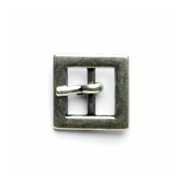 Vogue Star 10mm Pair of Mini Square Antique Silver Replacement Buckle