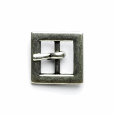Vogue Star 10mm Pair of Mini Square Antique Silver Replacement Buckles Accessories