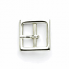 15mm Pair of Mini Square Silver Buckles Vogue Star