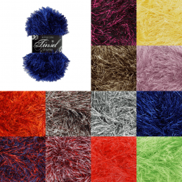 King Cole Tinsel Chunky Yarn Crochet Knitting Craft Wool Crochet 50g Ball