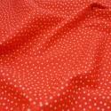 100% Cotton Poplin Fabric Rose & Hubble 3mm Stars & Spots Scarlet