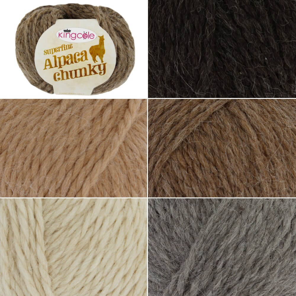 Koala King Cole Superfine Alpaca Chunky Yarn Crochet Knitting Craft Wool Crochet 50g Ball